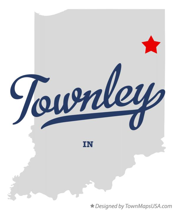 Map of Townley Indiana IN