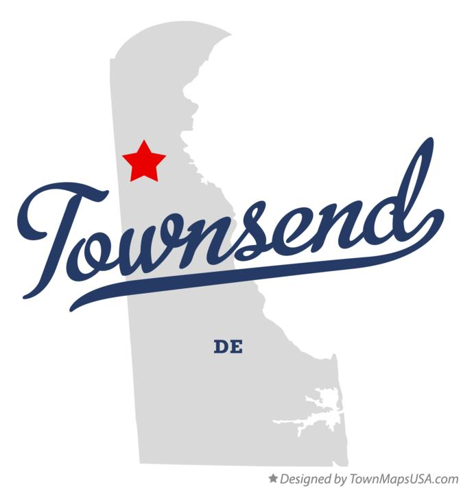 Map of Townsend Delaware DE