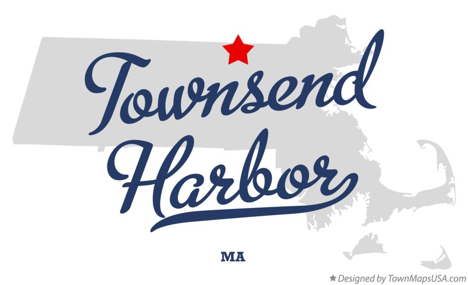 Map of Townsend Harbor Massachusetts MA