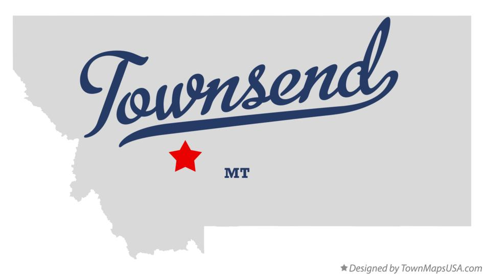 Map of Townsend Montana MT