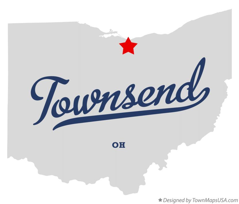 Map of Townsend Ohio OH