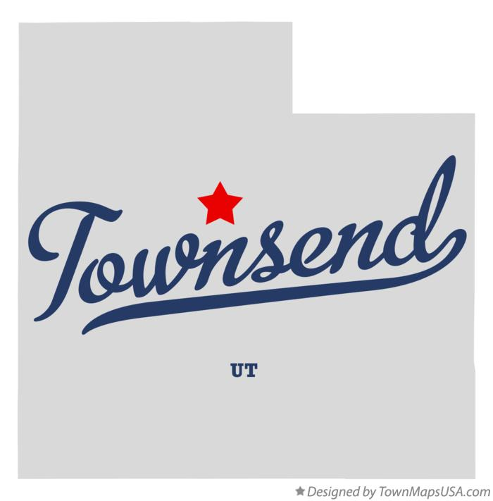 Map of Townsend Utah UT
