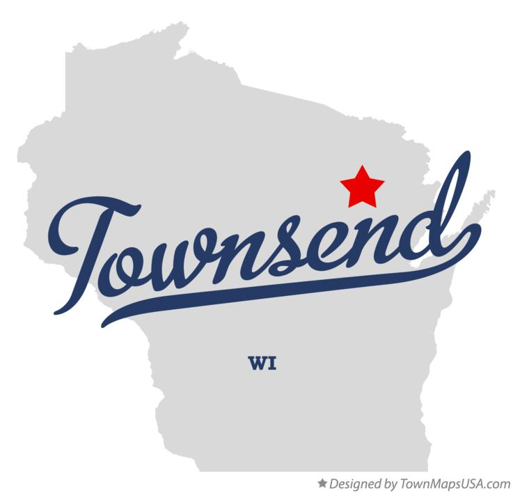 Map of Townsend Wisconsin WI