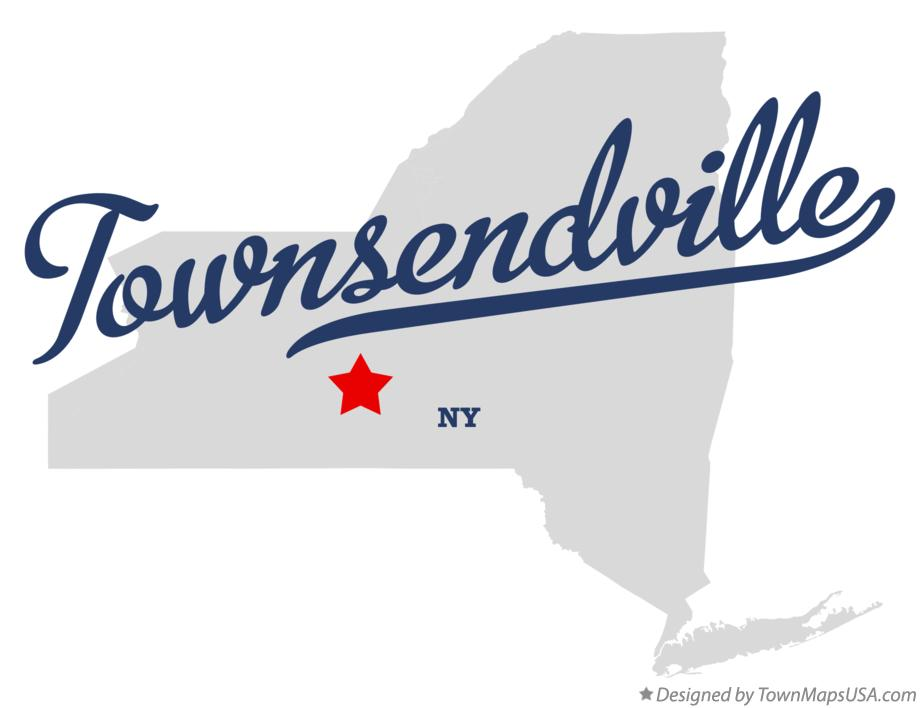 Map of Townsendville New York NY