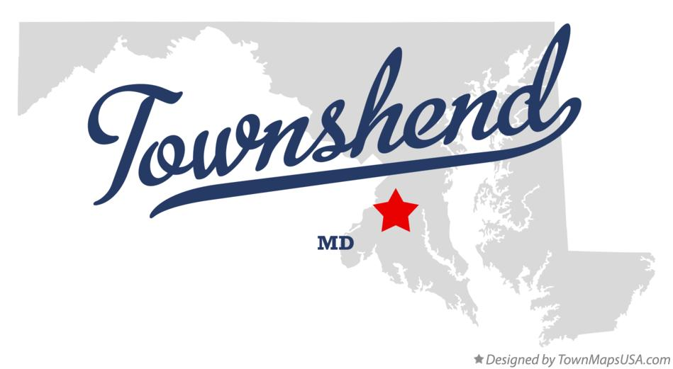 Map of Townshend Maryland MD