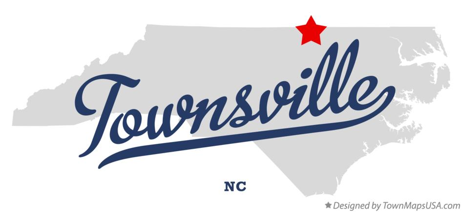 Map of Townsville North Carolina NC