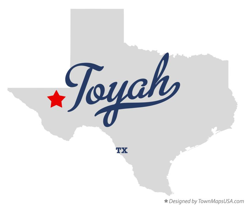 Map of Toyah Texas TX