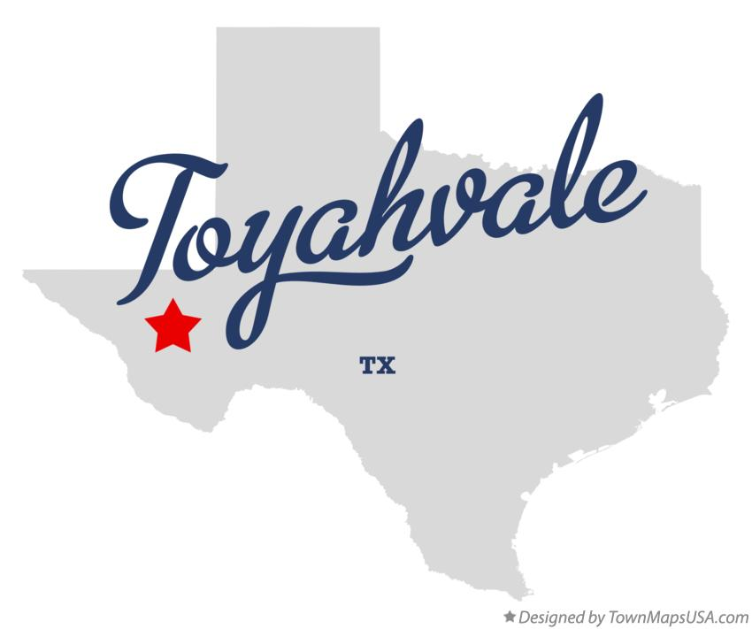 Map of Toyahvale Texas TX