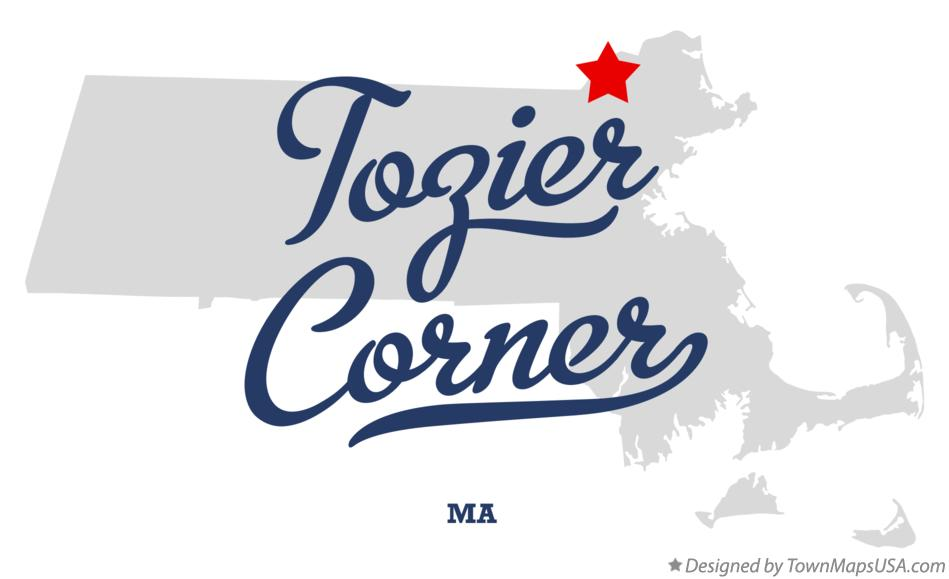 Map of Tozier Corner Massachusetts MA