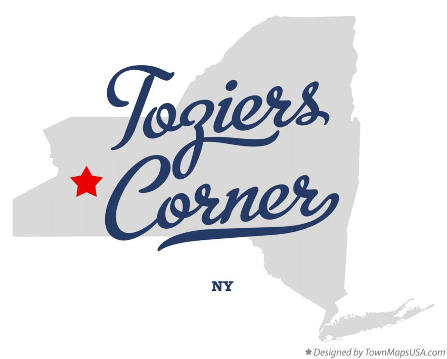 Map of Toziers Corner New York NY