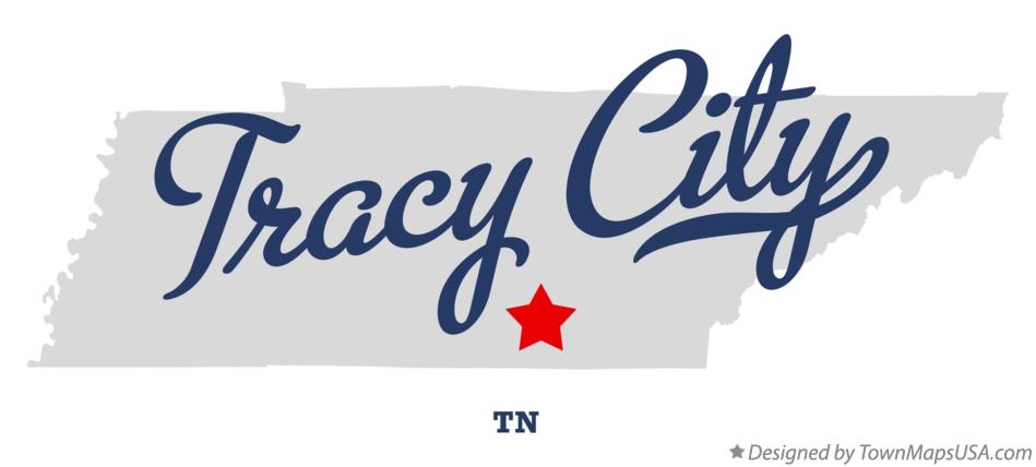 Map of Tracy City Tennessee TN