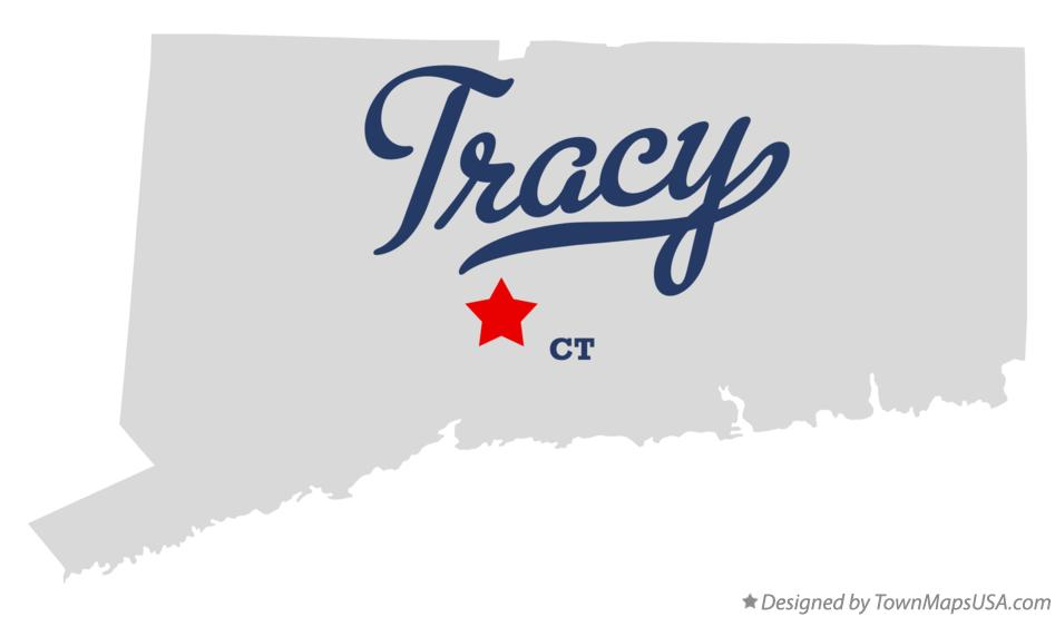 Map of Tracy Connecticut CT