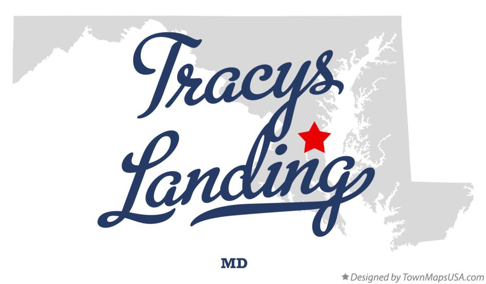 Map of Tracys Landing Maryland MD