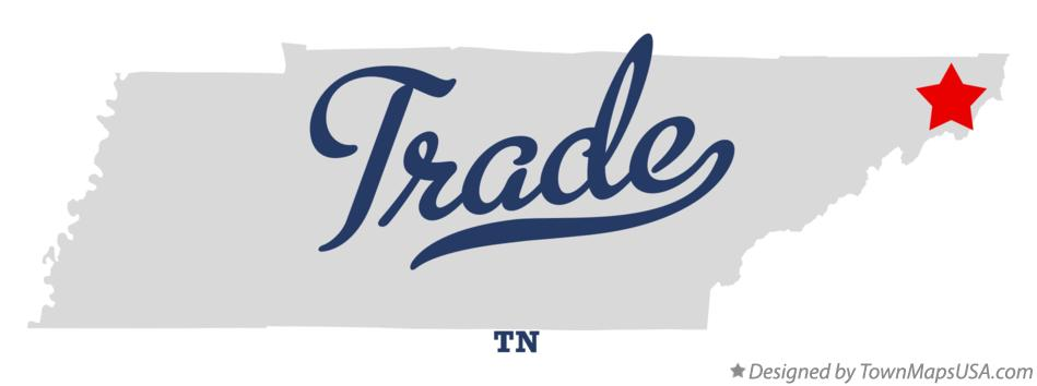 Map of Trade Tennessee TN