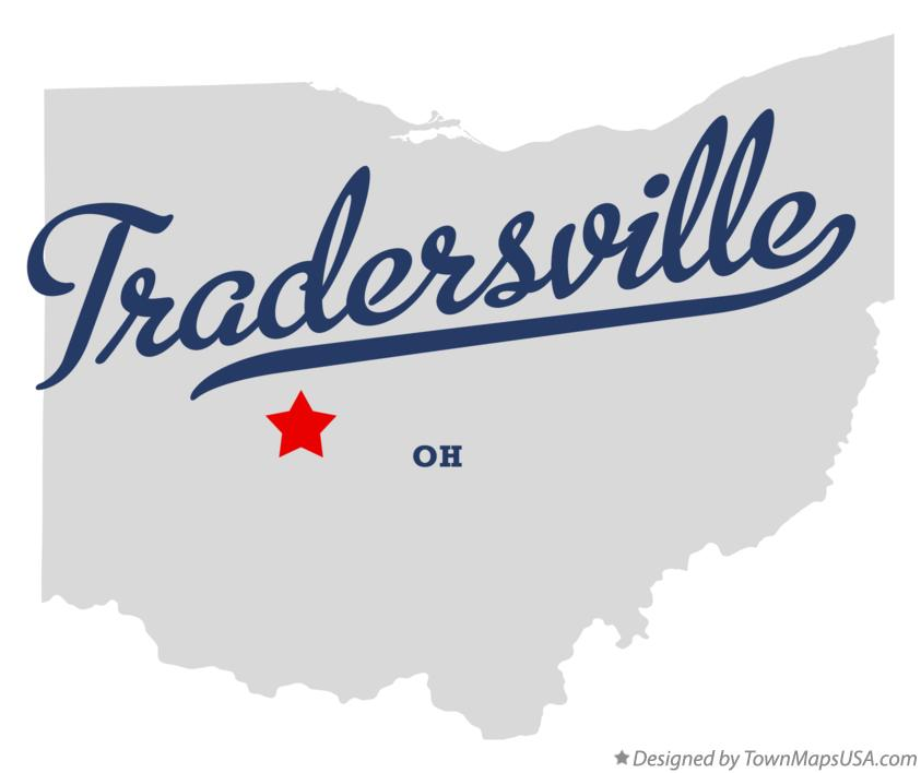 Map of Tradersville Ohio OH