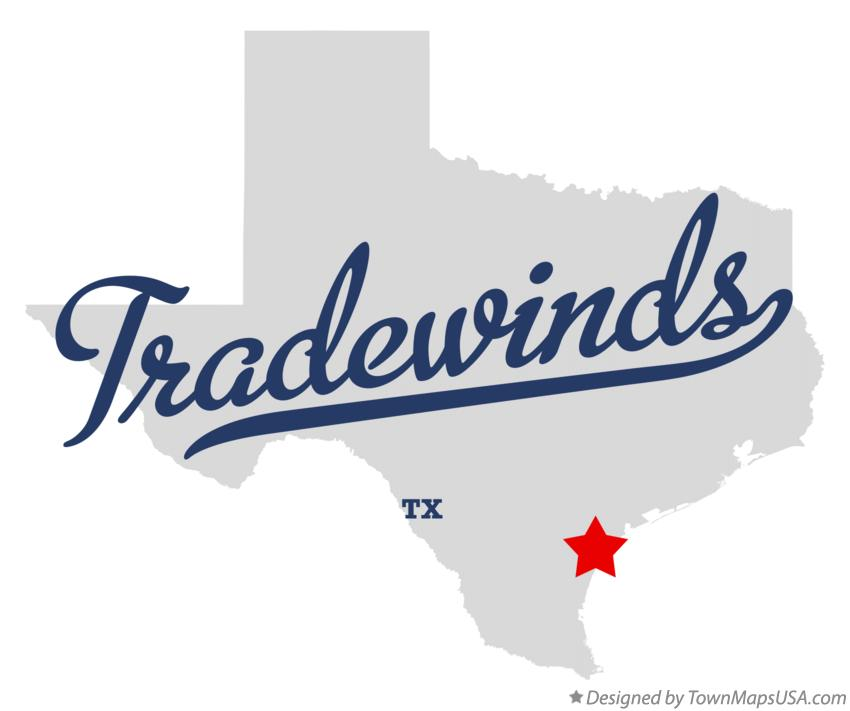Map of Tradewinds Texas TX