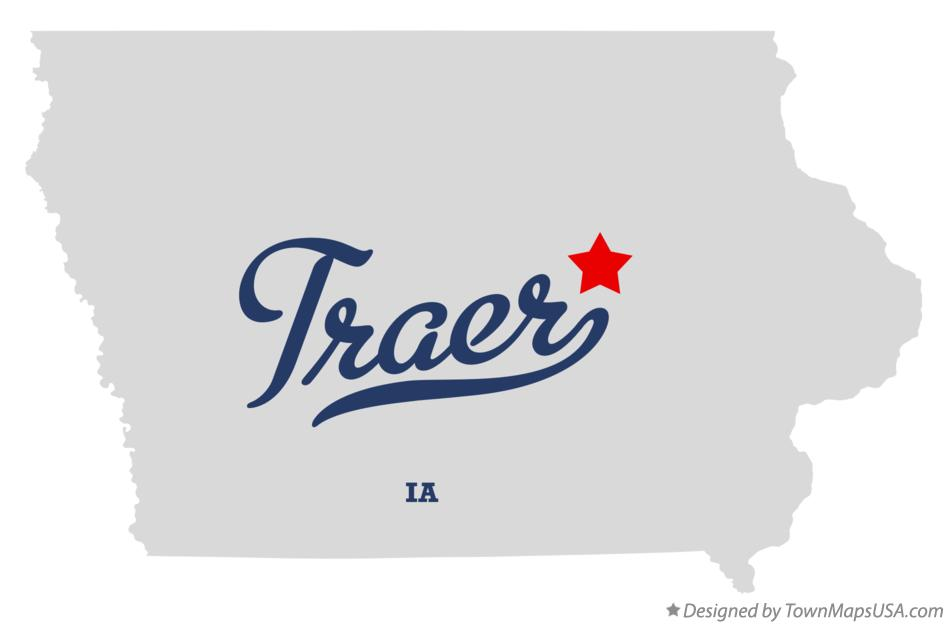 Map of Traer Iowa IA