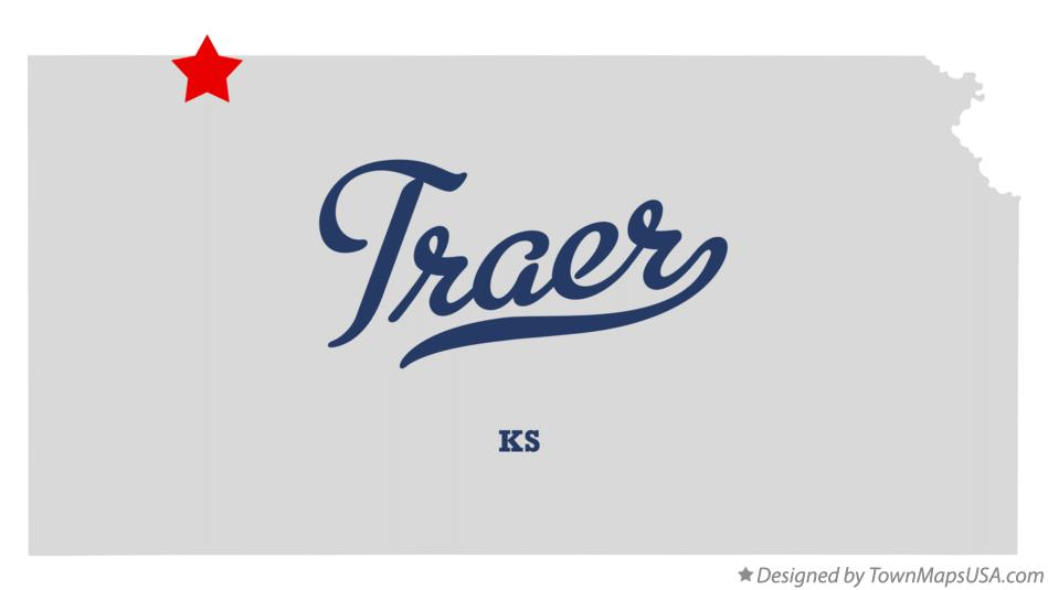 Map of Traer Kansas KS