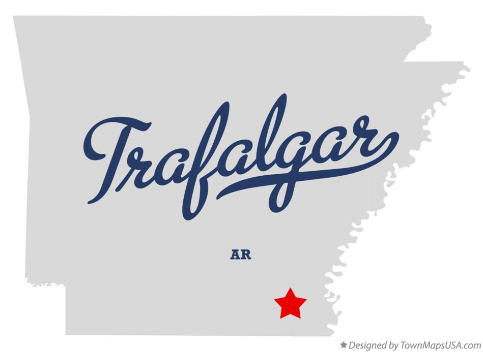 Map of Trafalgar Arkansas AR