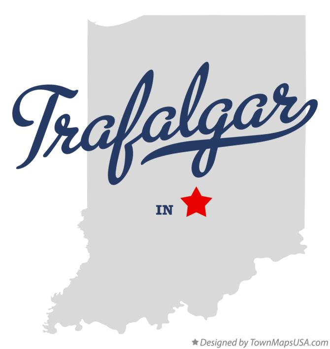 Map of Trafalgar Indiana IN