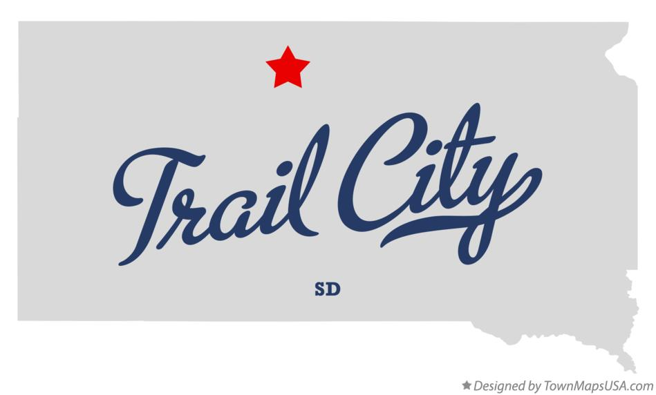Map of Trail City South Dakota SD