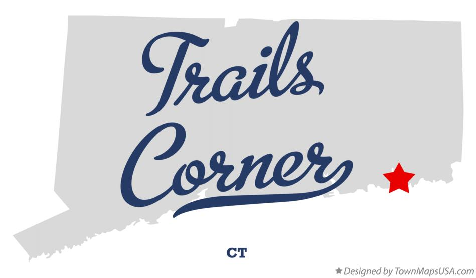Map of Trails Corner Connecticut CT