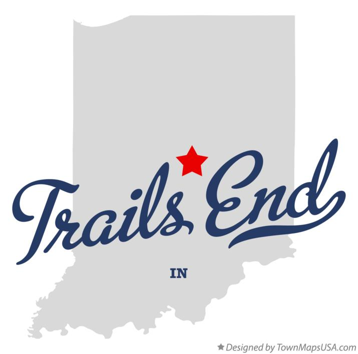 Map of Trails End Indiana IN