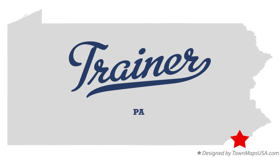 Map of Trainer Pennsylvania PA