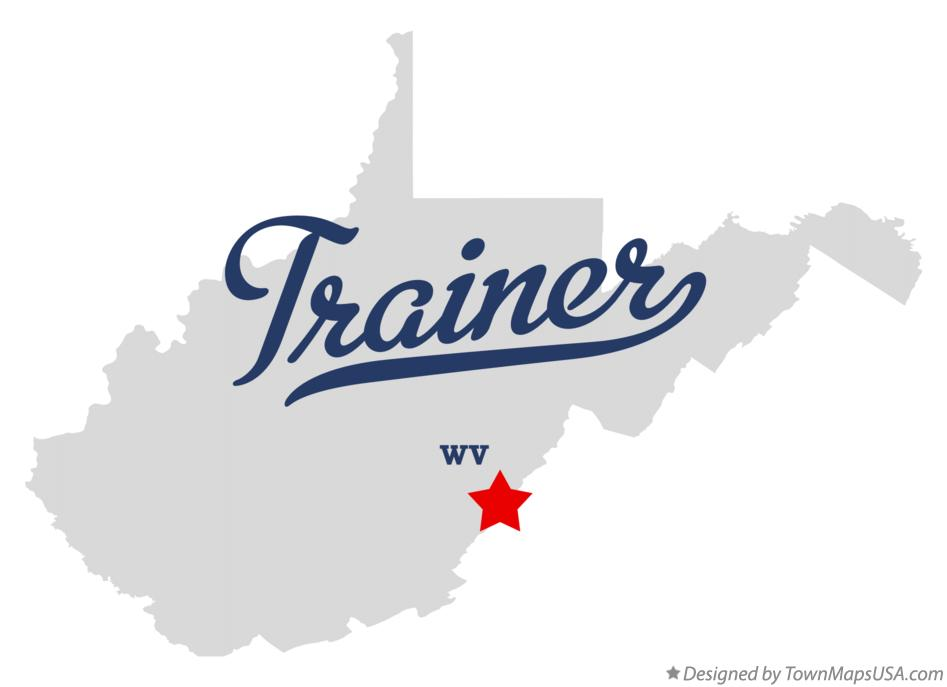 Map of Trainer West Virginia WV