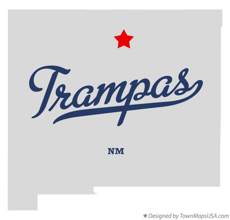 Map of Trampas New Mexico NM
