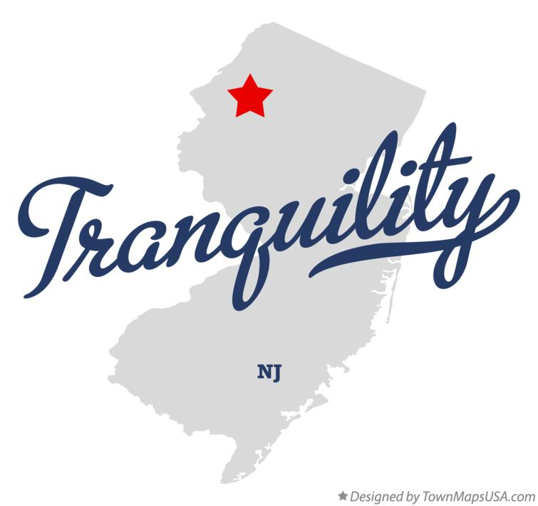 Map of Tranquility New Jersey NJ