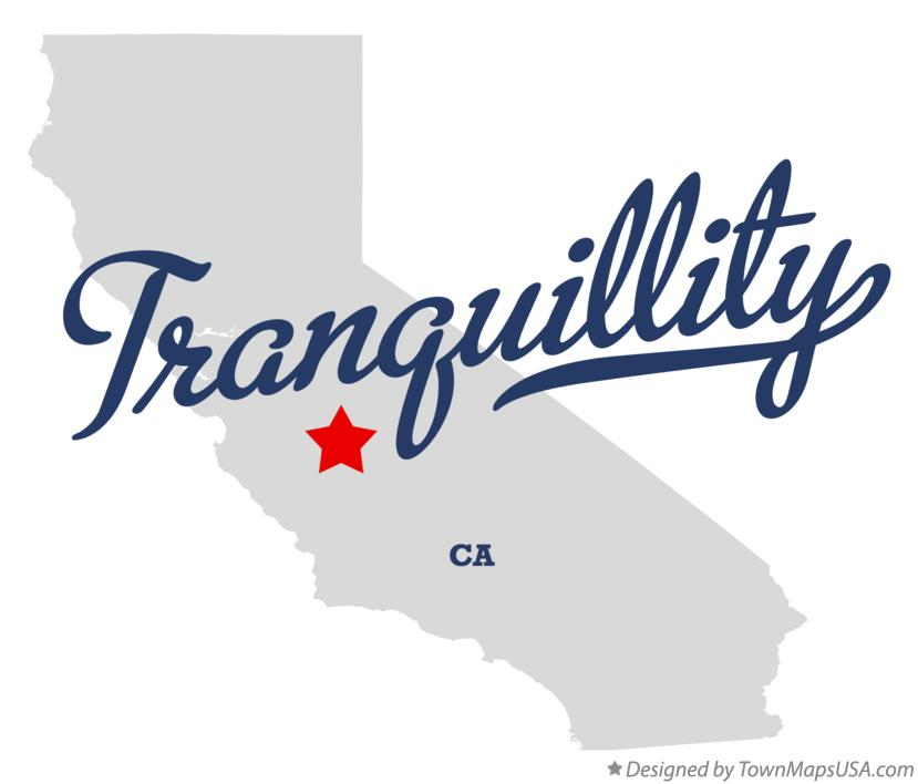 Map of Tranquillity California CA