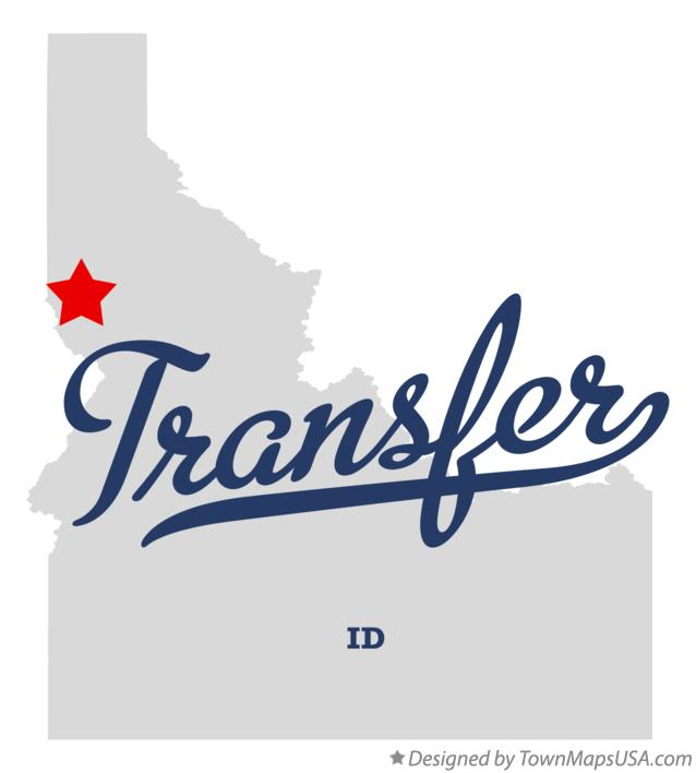 Map of Transfer Idaho ID