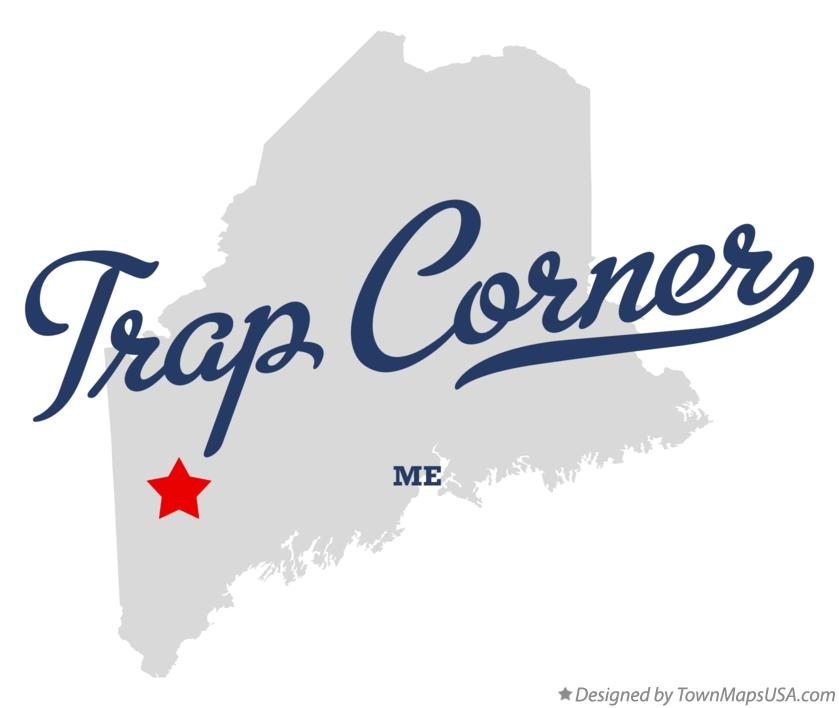 Map of Trap Corner Maine ME