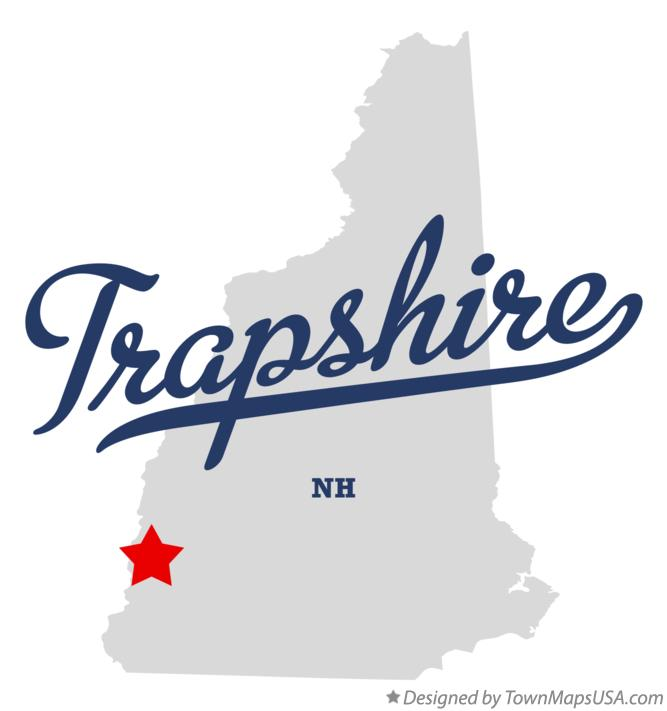 Map of Trapshire New Hampshire NH