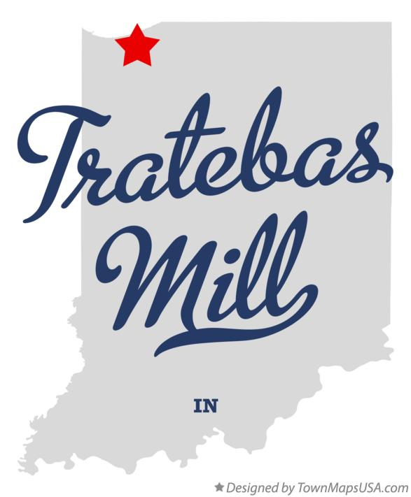 Map of Tratebas Mill Indiana IN