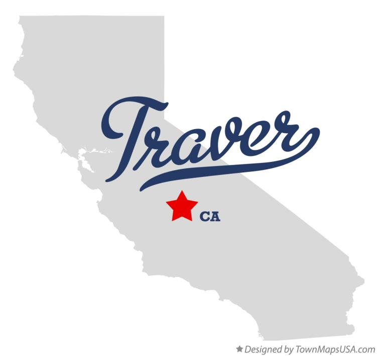 Map of Traver California CA