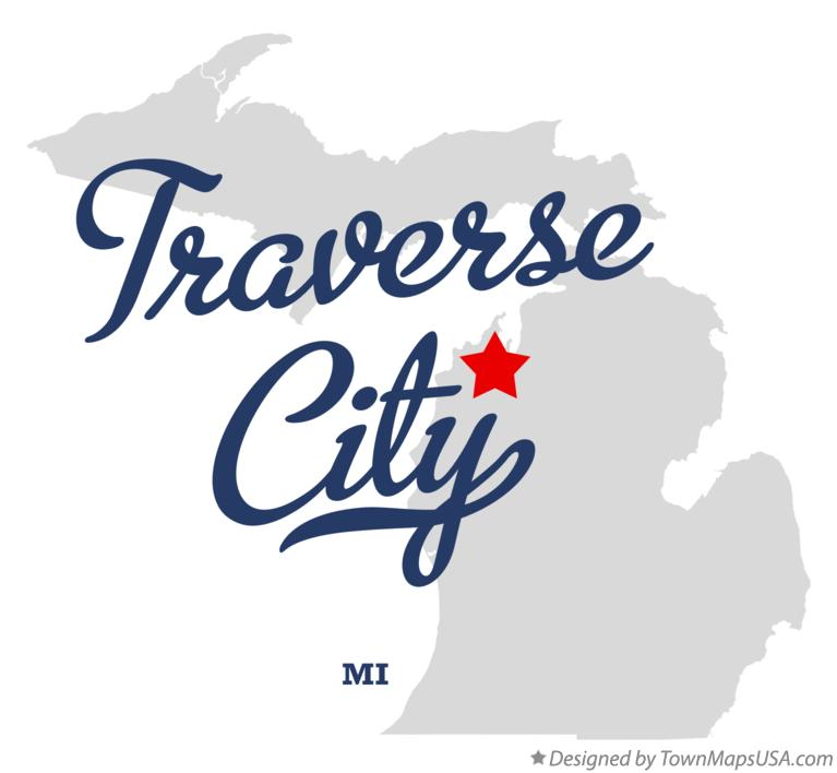 Map Of Traverse City Mi Michigan