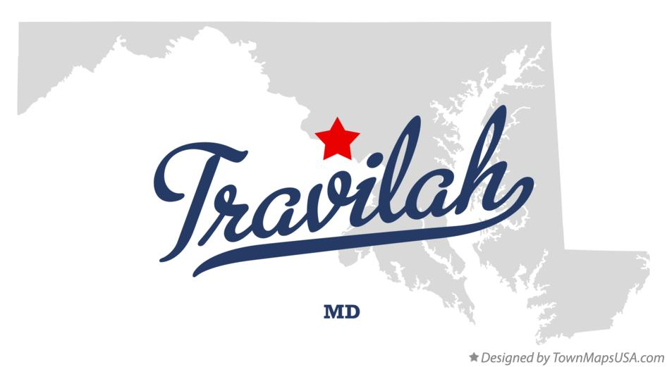 Map of Travilah Maryland MD