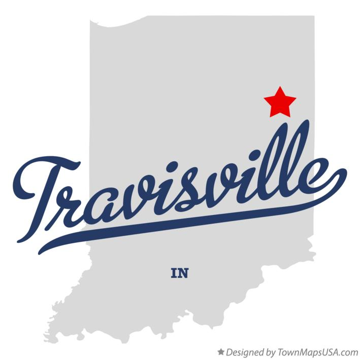Map of Travisville Indiana IN