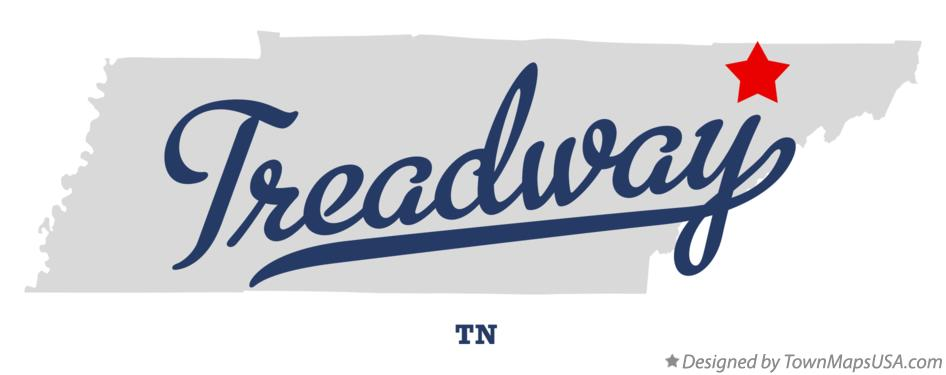 Map of Treadway Tennessee TN