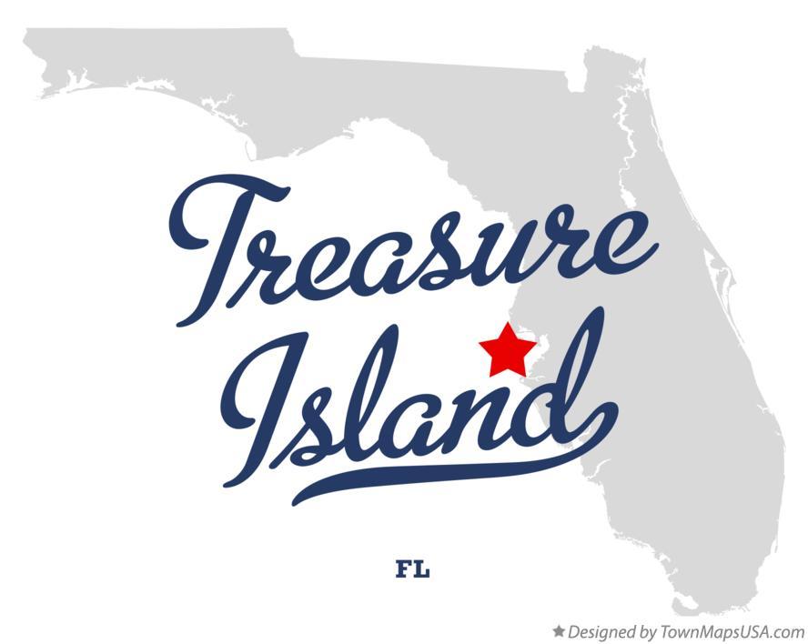 Map Of Treasure Island Fl Florida