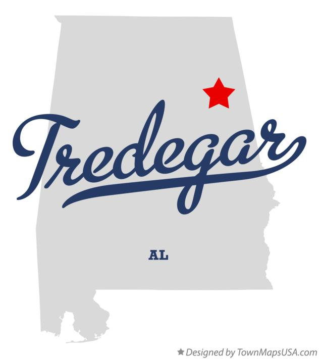 Map of Tredegar Alabama AL