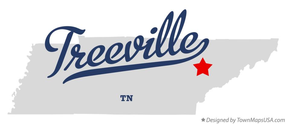 Map of Treeville Tennessee TN