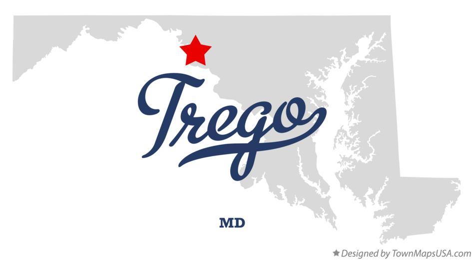 Map of Trego Maryland MD