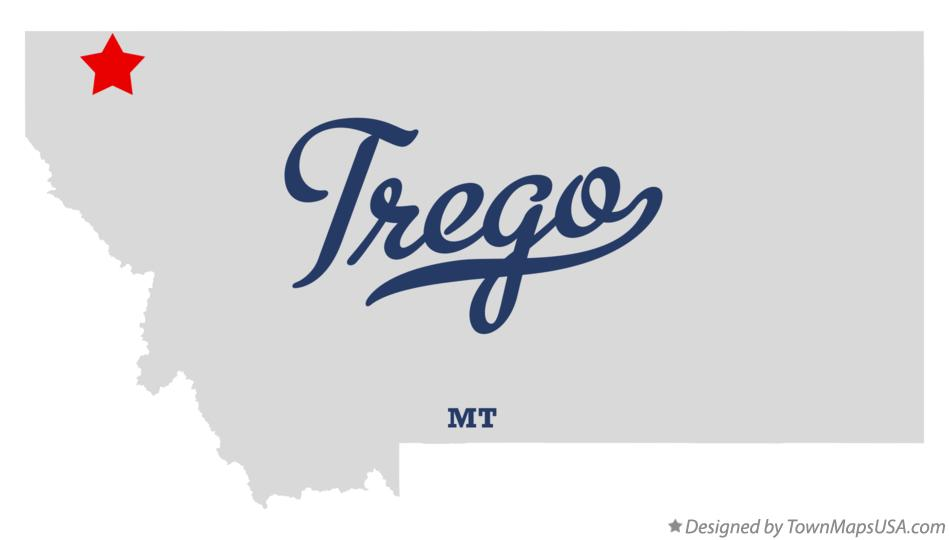 Map of Trego Montana MT
