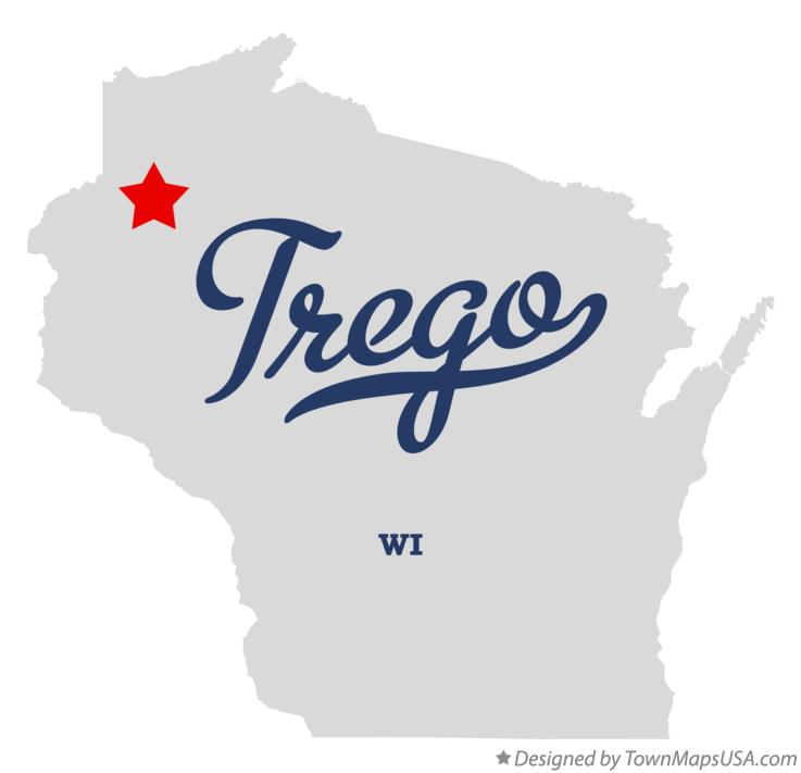 Map of Trego Wisconsin WI