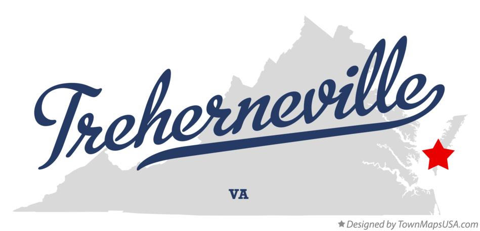 Map of Treherneville Virginia VA
