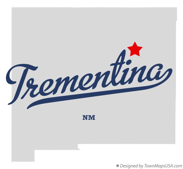 Map of Trementina New Mexico NM