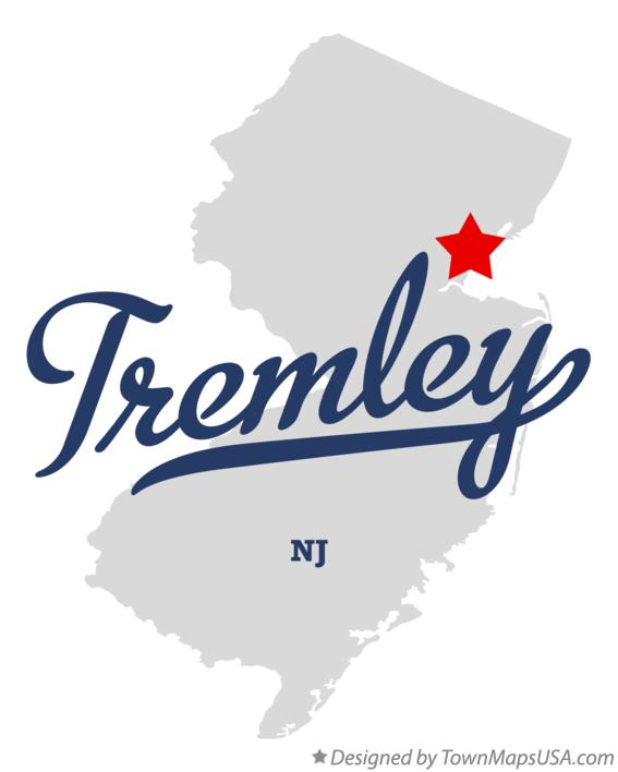 Map of Tremley New Jersey NJ